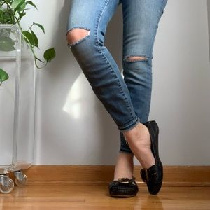 Chloe Flats shoes sz 37.5 black leather 7.5